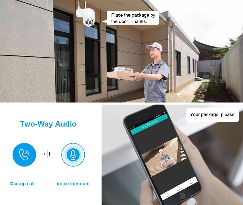 Smar 1080P Outdoor PTZ Wireless IP Camera 4X Digital Zoom Speed Dome Mini WiFi Security CCTV Audio Camera Auto tracking of Human (6)