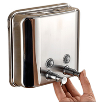 Liquid Soap Dispenser 1500Ml 304 Stainless Steel Wall Mounted Bathroom Liquid Hand Sanitizer Dispenser Kitchen