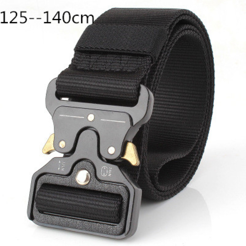 Men Waistband 125--140 Long 4.3 Wide Tactical Belt Training Multi Functional Outer Nylon Trousers Belt Can Be DIY