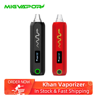 Mig Vapor Khan Dry Herb Vaporizer Kit 2500mAh Battery 2g Ceramic chamber electronic cigarette vaporizer portable vape pen kit