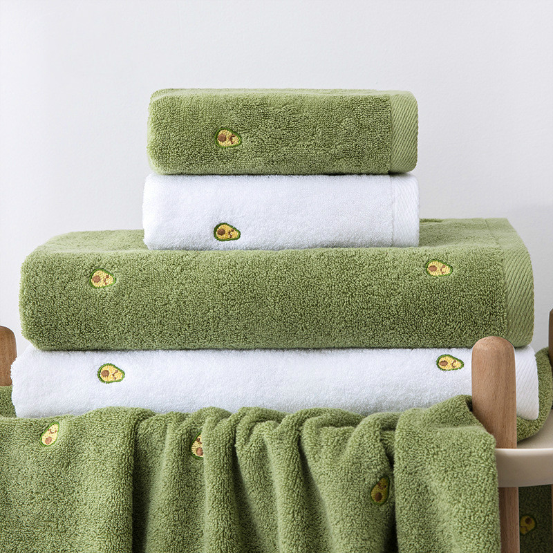 75x35 см авокадо стиль полотенце для лица из чистого хлопка стирка бытовой хлопковый мягкое впитывающее полотенце из микрофибры