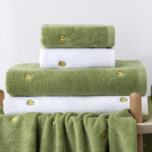 75x35cm avocado style towel cotton face wash household cotton soft absorbent microfiber towel