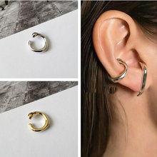 Shamir геометрические круглые серьги каффы для ушей зажим затянутый