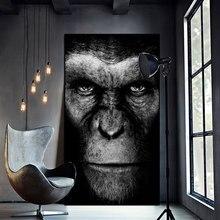 Toile de gorille noir Cool d'art mural moderne, affiches et imprimés d'animaux, images murales pour salon, décoration de maison