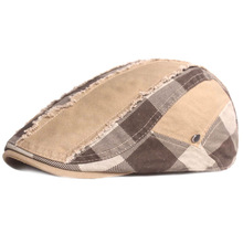 Hats Spring-Caps Berets Plaid Korean-Style Retro Men's New Youth Adjustable Causal Literary