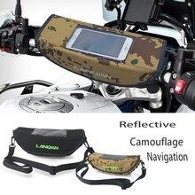 Motorrad Camouflage wasserdichte lenker Reflektierende reisen GPS navigation tasche Für Husqvarna 701 SUPERMOTO & ENDURO