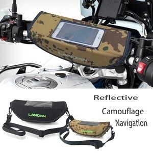Image 1 - Motorrad Camouflage wasserdichte lenker reise GPS navigation tasche Reflektierende Sattel Tasche Für Triumph 800 1200 Tiger Sport