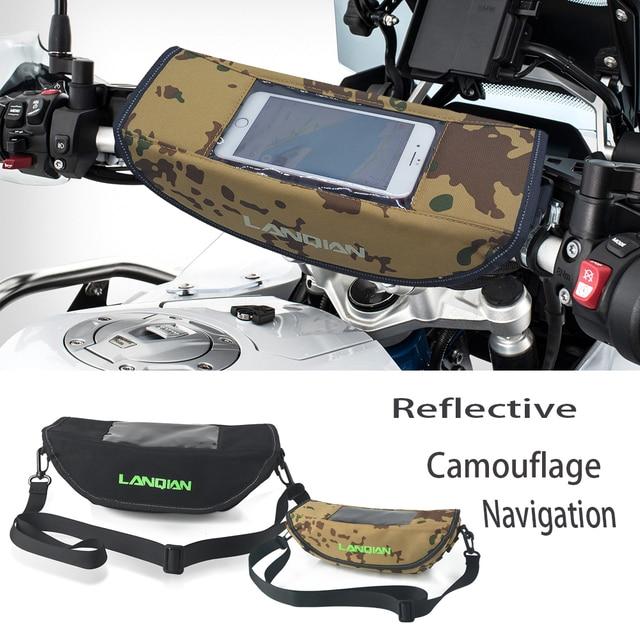 Motorrad Camouflage wasserdichte lenker reise GPS navigation tasche Reflektierende Sattel Tasche Für Triumph 800 1200 Tiger Sport