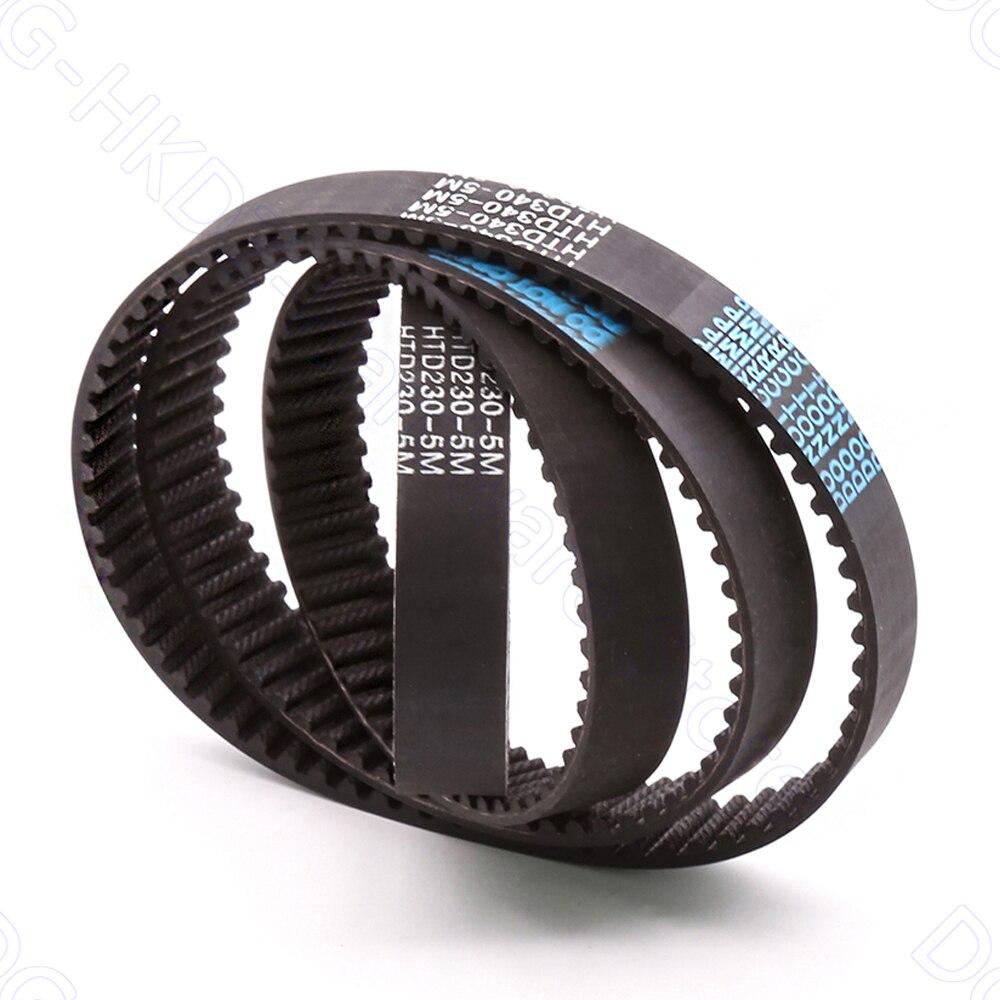 Ремень ГРМ HTD 5 м, шаг 5 мм, ширина 15 мм, закрытые резиновые приводные ремни, перем. 255 260 265 270 275 280 285 290 295 300 305 мм 1-5 шт.
