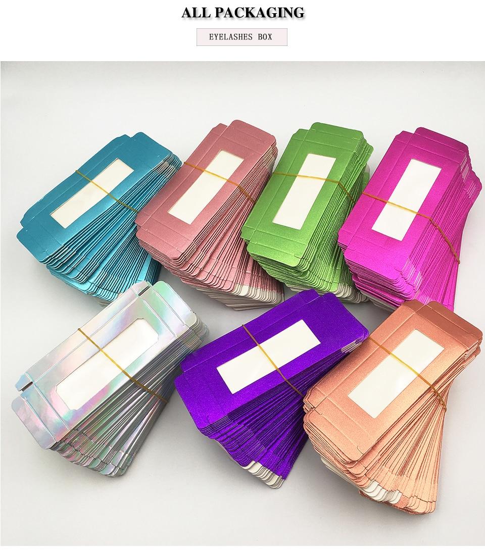 cores caixa de embalagem de cílios por