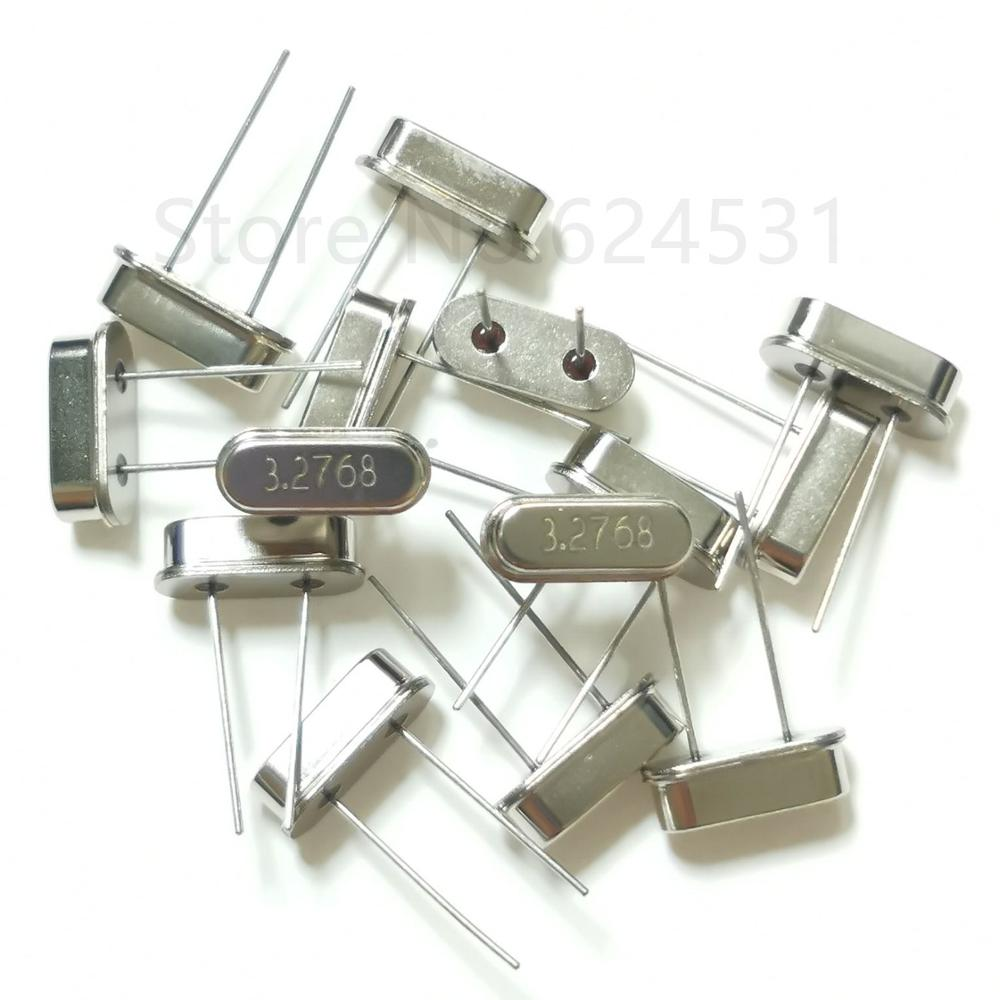 10pcs In-line Quartz Crystal HC-49S 3.2768M 2P Crystal 3.2768MHZ Resonator