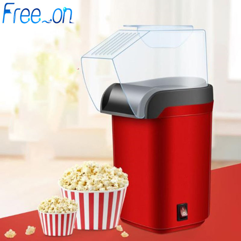 Easy Carry Electric Hot Air Popcorn Maker Retro Machine Cinema Home Gastronomic