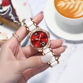 OLEVS Women watch Set Waterproof Automatic Mechanical watch Female Ceramic watch Gift for Women Wristwatches 4