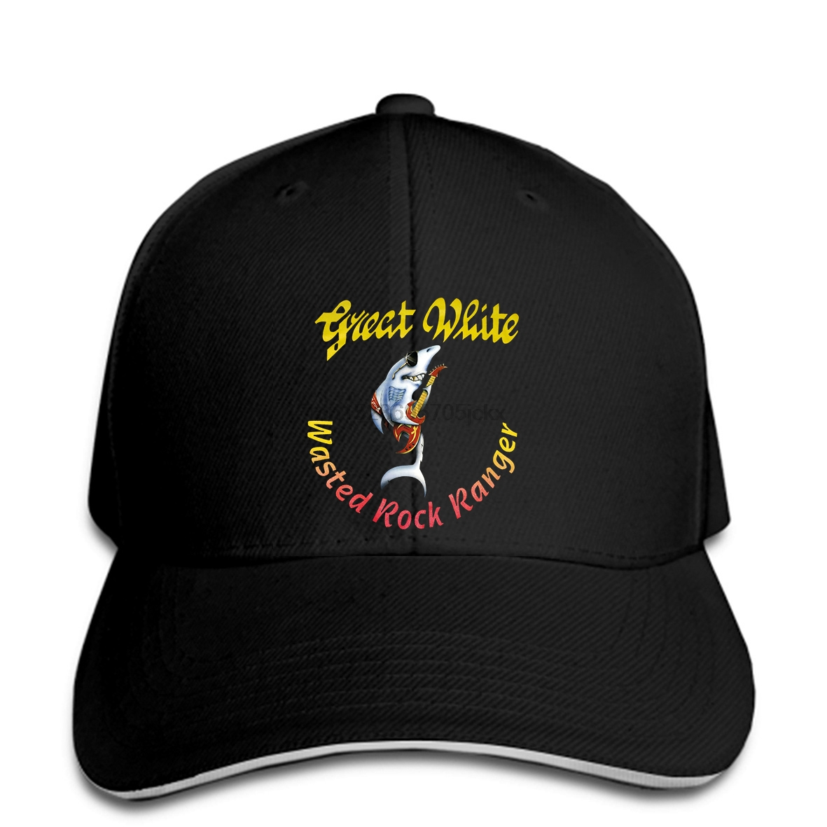 Vintage 1997 Great White Baseball cap REPRINT Hard Rock Band Tour 90s snapback hat Peaked image
