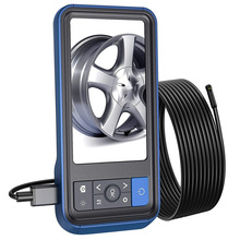 """New 8mm Endoscope Camera Waterproof Industrial Borescope with 4.5"""" HD Screen LED Pipe Inspection Camera Hard Cable Endoscope"""