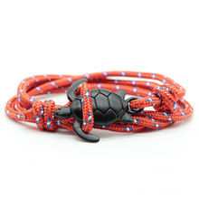 Noter 2020 Mens Bracelet Paracord Adjustable Multilayer Survival Braslet Tortoise Braclet Man Brazalete Accessories Pulseras(China)