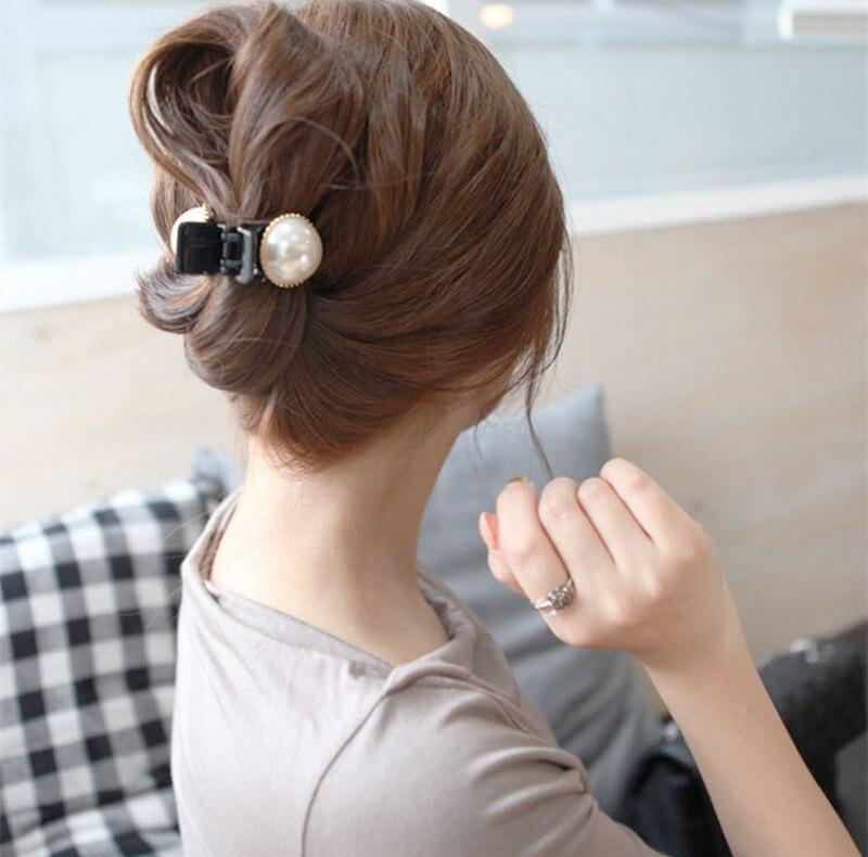 2020 New Girls Pearl Hair Claw Mini Barrettes Women Hair Crab Hair Claws Women Make UP Washing Tool Hair Accessories