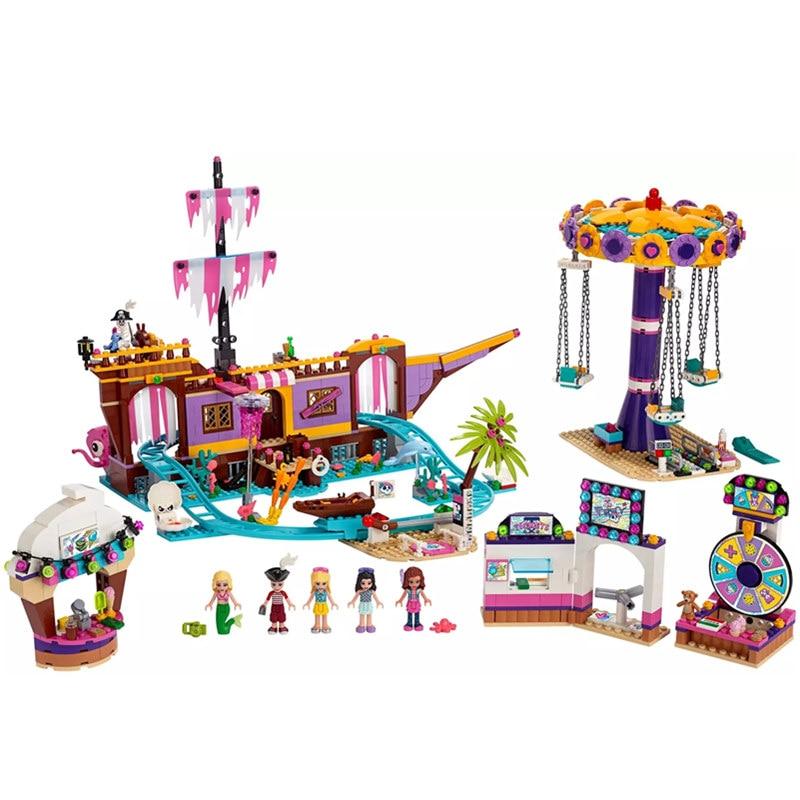 2020 New Friends Set Amusement Park Fit For Lepinblock Friends 41375 Model Building Block Bricks Toys For Girl Christmas Gifts