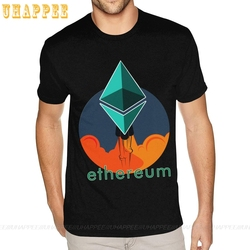 Rocket To The Moon Ethereum Tee Family Grunge Hip Hop T Shirts Men Short Sleeved Fashion Brand Top Apparel