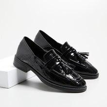 Маленькие кожаные туфли; Женская обувь в британском стиле; Новинка