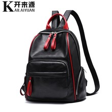 100% Genuine leather Women Backpack 2019 New Lady Student Backpack Fashion Casual Korean Backpack shoulder bag(China)