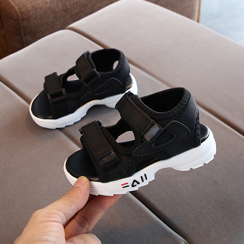 Girls Sandals 2020 Summer New Boys Sandals Roman Shoes Beach Shoes Girls Open Toe Shoes Flat Baby Toddler Shoes Black Pink White