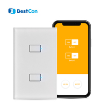 Broadlink TC2S US Wall Light WiFi Switch 1 2 3 Gang Smart Home Glass Panel Touch Control Wireless Switches 110V 220V Via Rm4 Pro