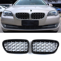 F07 Car Front Grill Diamond Style Grille for BMW 5 Series F07GT Gran Turismo 2010 2016 1:1 Replacement ABS Kidney Grille
