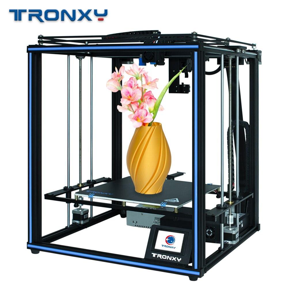 Tronxy X5SA PRO extrudeuse Titan améliorée et Rail de guidage Double axe de haute précision imprimante 3D construire plaque reprendre la panne de courant