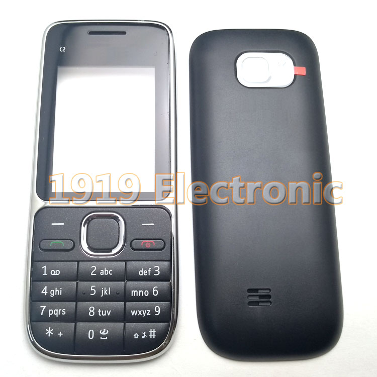 New phone Housing Cover Case with Hebrew stamp or Russian Or English Keypad  For Nokia C2-01 C201 + Tools