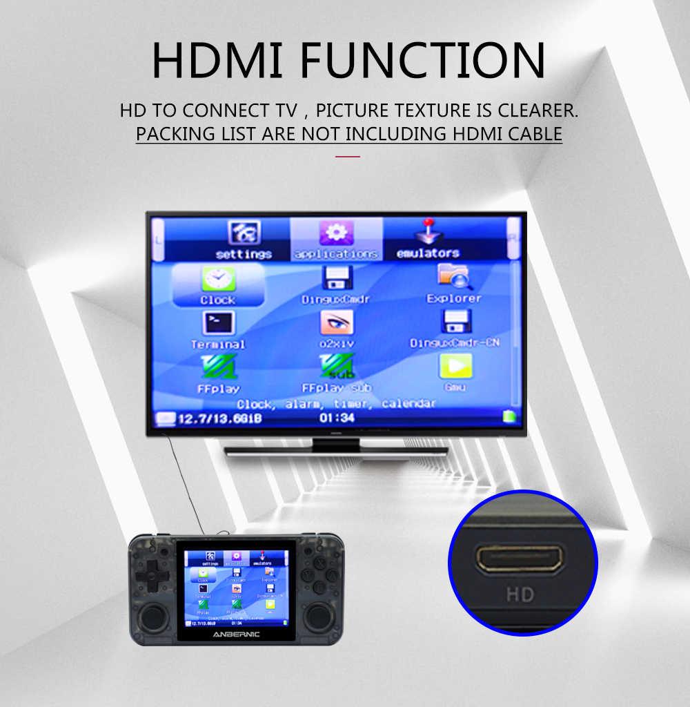 ANBERNIC NUOVO RG350P IPS Retro Games 350 Video games Aggiornamento console di gioco ps1 gioco 64bit opendingux 2500 + giochi rg350M HDMI IPS