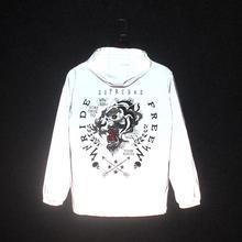 Reflective-Jackets Coat Windbreaker Mens Spring Streetwear Hip-Hop Tiger 3m Autumn Night-Shiny