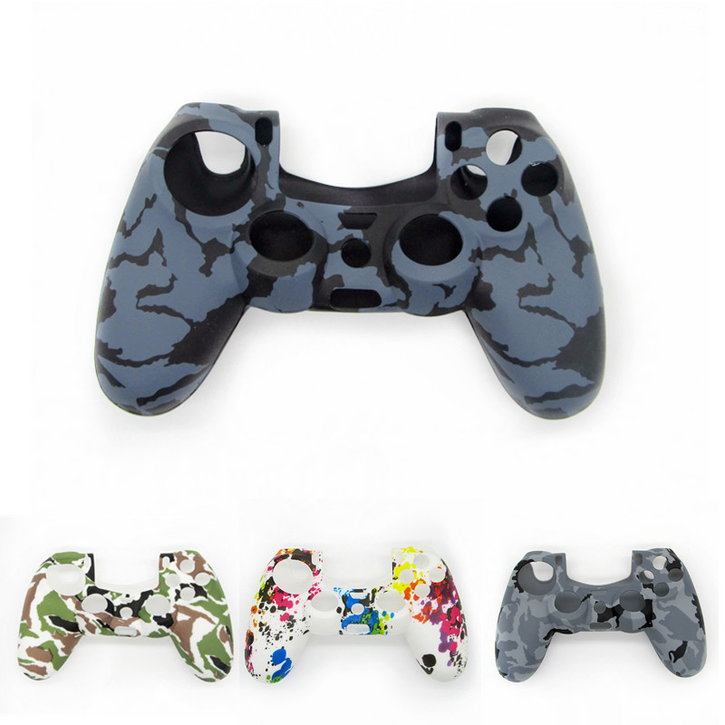 For PS4 Accessories Silicone Gel Guards Sleeve Skin Grips Cover Case Caps For Playstation 4 PS4 Pro Slim Durable Camouflage