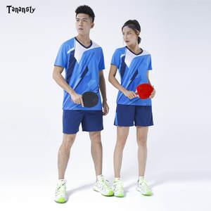 Топ, Джерси для настольного тенниса, комплект для бадминтона, спортивная одежда, рубашка с шортами, мужская и женская одежда для пинг-понга, ...