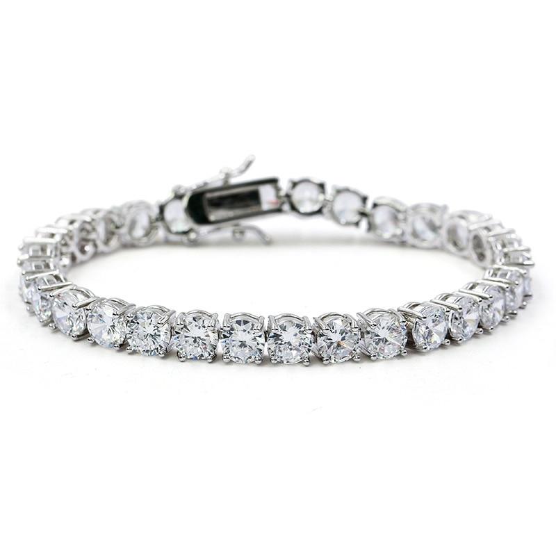 Brass Tennis Bracelet AAA CZ 3mm 4mm 5mm 1 Row Cubic Zirconia Gold Silver Color Bracelet for Men Women Iced Out Hip Hop Jewelry