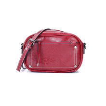 Original Vento Marea Women Phone Bag Wide Strap Cross Body 2019 Oil Wax Cow Leather Shoulder Bag Purses Brown/Black/Red Wine jobon stylish oil lighter with leather strap red