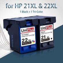 UniPlus чернильный картридж для hp 21XL 22XL C9351C C9352C для hp 21 22 принтер с чернилами hp Deskjet 3910 3940 OfficeJet 4315 J3508 черный Цвет чернила
