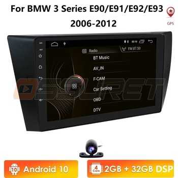 Android 10 2G+32G Car Autoradio stereo For BMW 3-Series E90 E91 E92 E93 Car Radio Multimedia Video Player Navigation GPS wifi 4G image