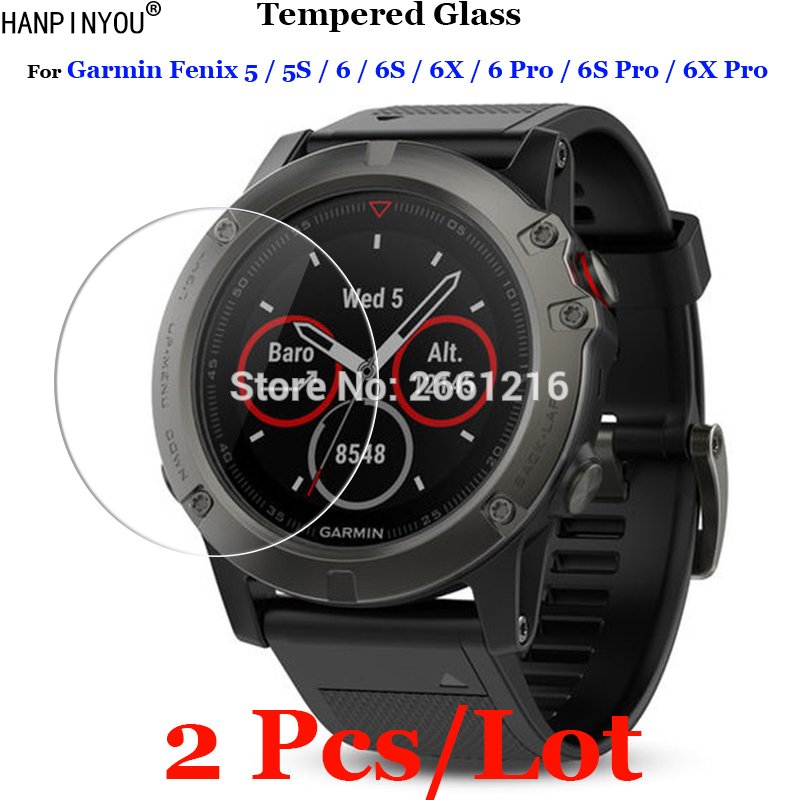 2 Pcs/Lot For Garmin Fenix 5 5S 6 6S 6X Pro Sports Smart Watch Tempered Glass 9H 2.5D Premium Screen Protector Film