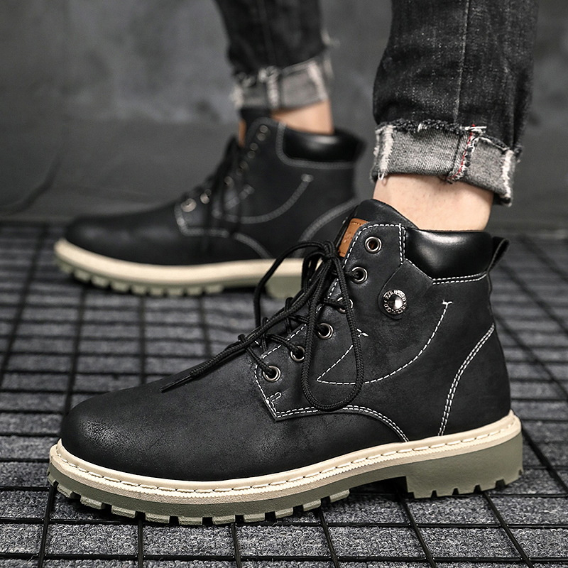 do plutônio primavera & outono botas masculinas