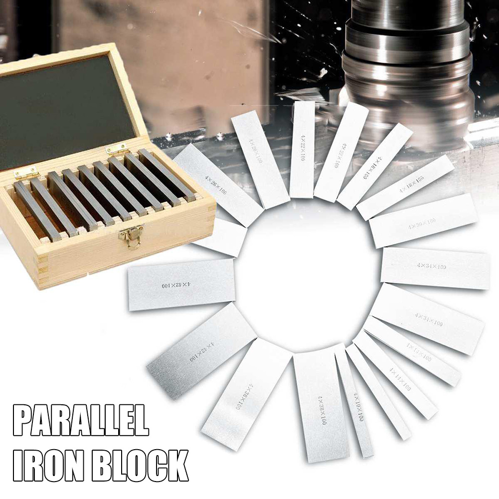 9 Pairs High-precision Manufactured Parallel Pad Gauge Blocks CNC Milling Pads Set HUG-Deals