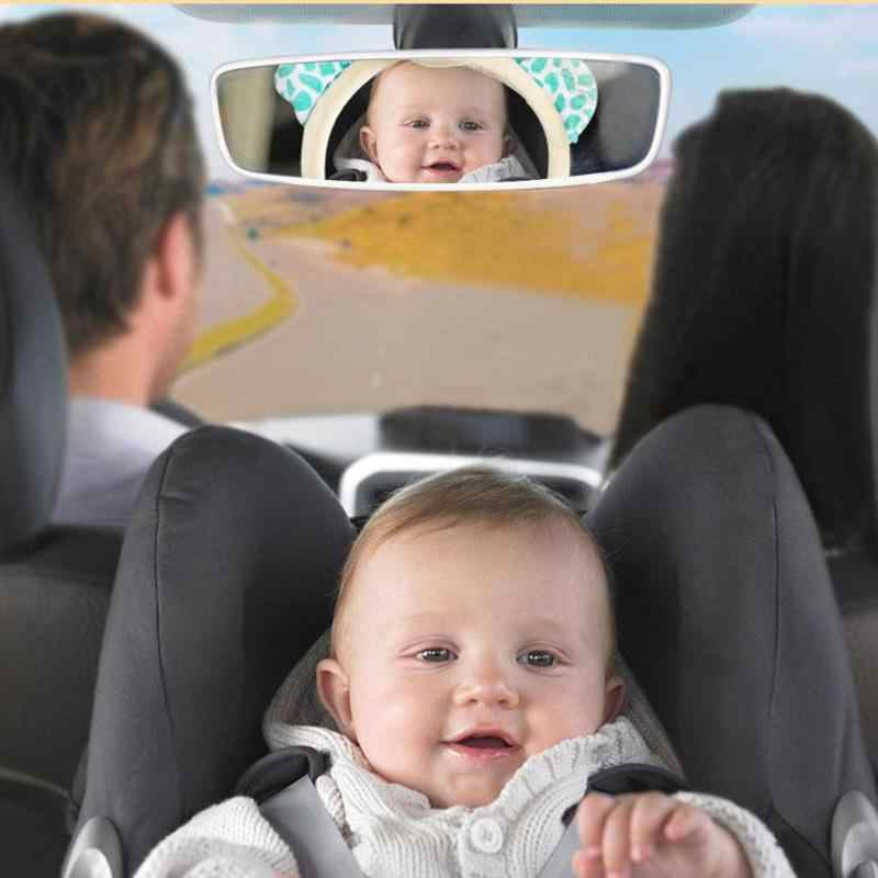 De seguridad ajustable coche bebé espejo reposacabezas del asiento espejo retrovisor bebé que para espacio trasero Coche infantil seguridad niños Monitor