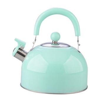 Czajnik bojler niemagnetyczny czajnik ze stali nierdzewnej brzmiący czajnik pogrubienie kolorowy gwizdek gorący czajnik tanie i dobre opinie CN (pochodzenie) Water Kettle 20 x 19 8cm stainless steel green