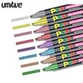Umitive Жидкий Мел маркер Ручки Разные цвета металлик для рок живопись средняя точка металлический цвет маркеры керамическое стекло