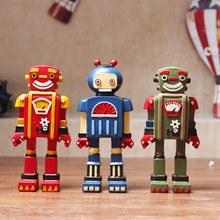 $ American Retro Ornament Cute Robot Home Furnishing Crafts Decoration Cafe Bar Clothing Shop Restaurant Rome Soldier Figurines()