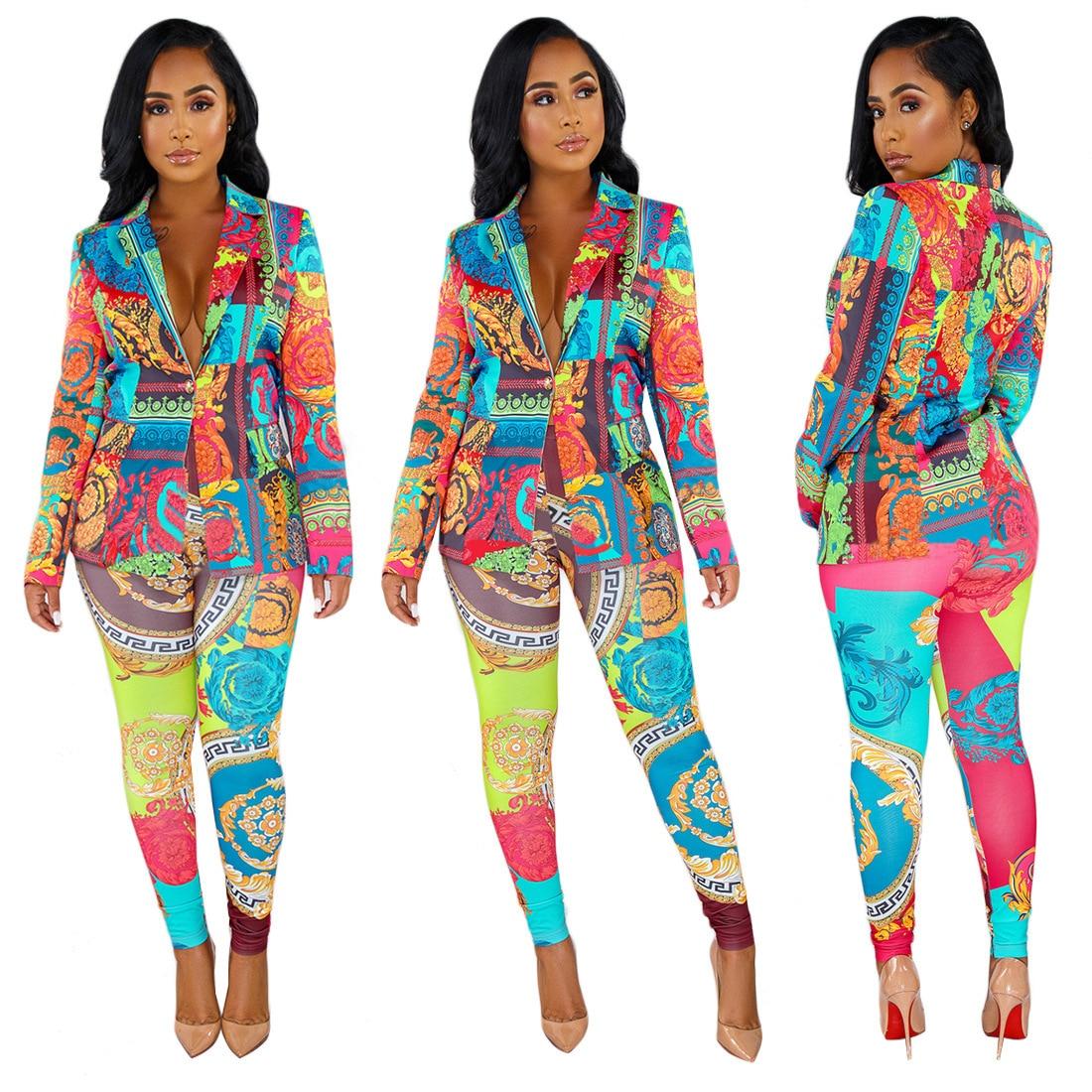 European And American African National Style Autumn Winter Women's Wear Hot Fashion Sexy Trim Sportswear