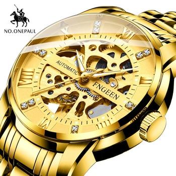 цена hot sale Chronograph Luxury Gold Men's Watch Stainless Steel Chronograph Automatic Date watches men Business Quartz Watch for me онлайн в 2017 году