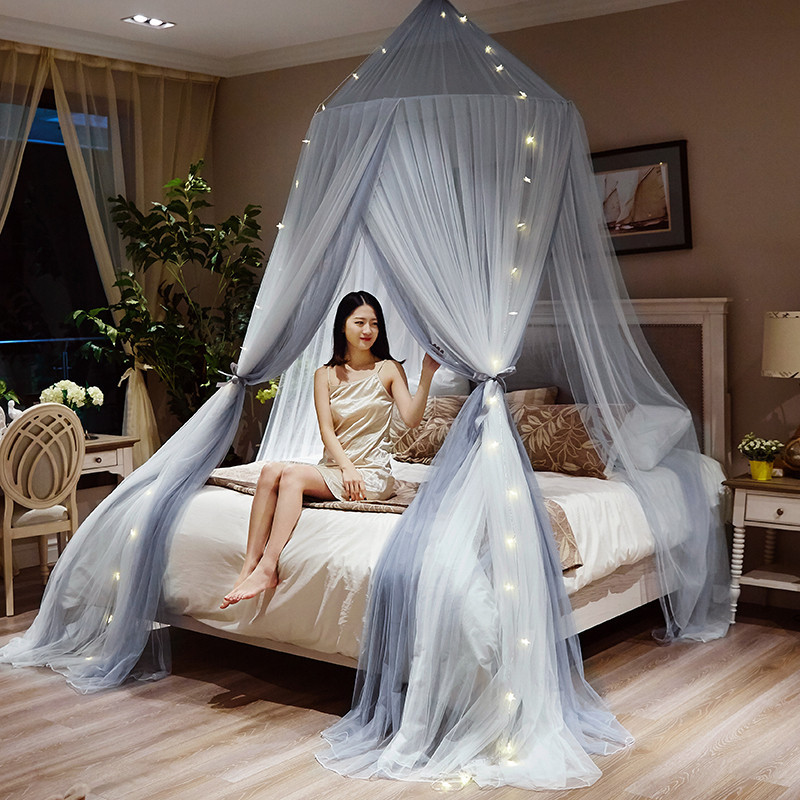 New Princess dream natural dome mosquito net three door color matching ceiling ins wind palace wind girl European mosquito net in Mosquito Net from Home Garden