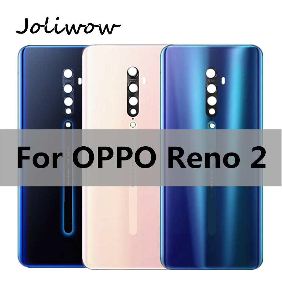 6.5 Inch For Oppo Reno 2 Back Battery Cover Door Housing Case Rear Glass Parts Replacement For Oppo Reno 2 Reno2 Battery Cover