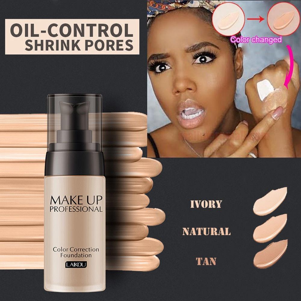 40ml Concealer Flawless Color Changing Foundation Makeup Base Face Liquid Cover Concealer SPF50 Face Makeup